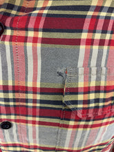 Load image into Gallery viewer, Hurley International Freedom Men's M Red black Tan Long Sleeeve Plaid Bu