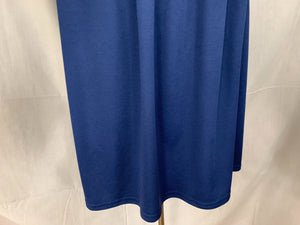 CW Classics Size large Sleeveless Blue Pullover FlowyTop Blouse