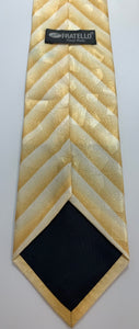Fratello Brand 100% Polyester Yellow Tie