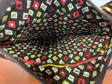 Load image into Gallery viewer, Vera Bradley Women's Black Red Yellow Shoulder Cross body Quilted Zippered Bag