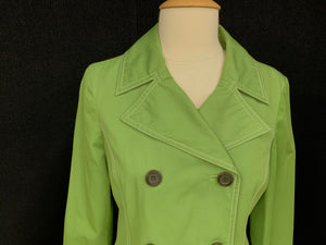 Michael Kors Size small Spring Green Trench Coat Jacket