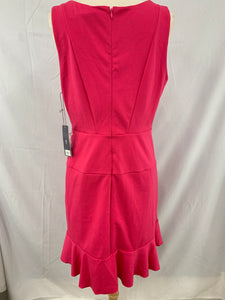 NWT Jennifer Lopez size 12 Rivera Chic Dress Electric Pink Sleeveless