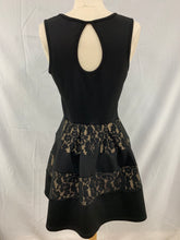 Load image into Gallery viewer, Ruby Rox Size 7 Black Key Hole Back Lace Sleveless Dress