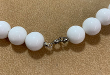 Load image into Gallery viewer, Vintage White Plastic Bead Silver Spacer 2 Accent Strands Necklace 30""