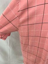 Load image into Gallery viewer, London Fog Pink Check Mens size 2X Short Sleeve One Pocket Polo Shirt