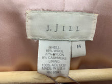 Load image into Gallery viewer, J JILL Size 14 Light Blush Wool Blend Blazer Jacket Coat
