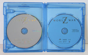 USED-World War Z Blu-ray and DVD 2-Disc Set (2013) Unrated  with slipcover