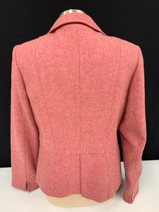 Talbots dusty rose pink wool blazer sz 10