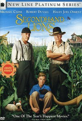 Secondhand Lions (DVD, 2004, New Line Platinum Series) Michael Caine/Rob
