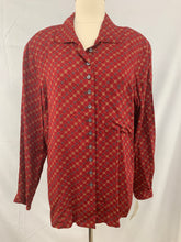 Load image into Gallery viewer, NWT EVAN -PICONE American Classics size 16 Red Button Down Shirt Top