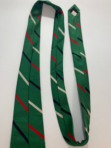 B. Forman Company Vintage 100% Silk Green Striped Tie 58""