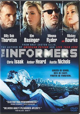 The Informers (DVD, 2009) Billy Bob Thornton, Kim Basinger, Winona Ryder