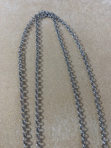 NY Brand Metal Rings Rope Style Necklace 34""