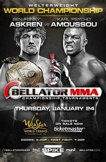 USED-Bellator MMA (DVD 2013) Weight Championship-Askren vs Amoussou/Cham