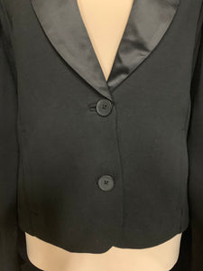GAP Size M Black Dress Waist Tuxedo Jacket Satiny Collar