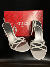 Load image into Gallery viewer, Guess by Marciano White Leather Strap Heels Sz 10