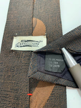 Load image into Gallery viewer, Vintage Expressions Polyester/Silk Brown Tie 58""