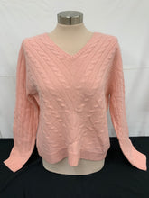 Load image into Gallery viewer, NWT Valerie Stevens Cashmere Light Pink V-Neck Sweat