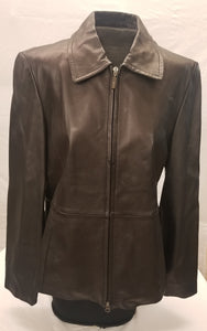 Women's Black Guess Leather Jacket size L