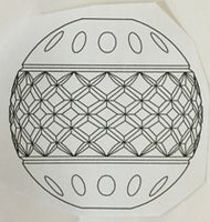 3763 Hand Cut Design A/D Hollow Column/Ball