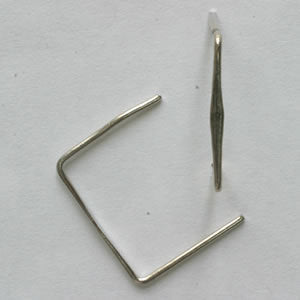 Plain Clip in Brass or Chrome