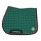 Dapple Irish Green Saddle Pad with Beige & Brown Piping - Hoofprints Innovations