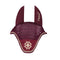 Dapple Burgundy Saddle Pad with Beige & Brown Piping - Hoofprints Innovations