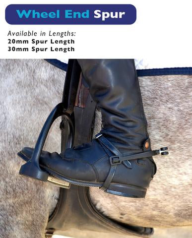 Kennedy Equi Products EasySpur Wheel End with Stainless Buckle Leathers included (20/30mm + Polyamide/Steel Wheels) - Hoofprints Innovations