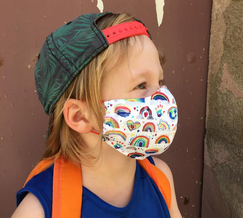 Boy rainbow mask
