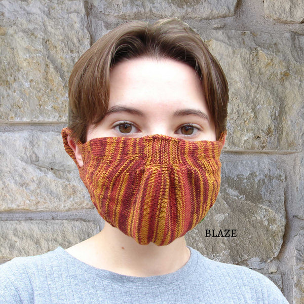 100% Egyptian Cotton Standard Size Knitted Mask with filter (multi-color options)