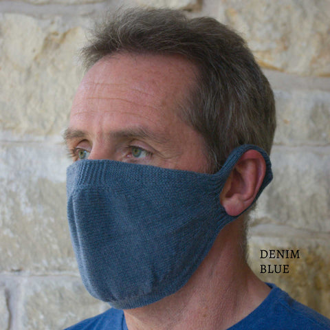 100% Egyptian Cotton Knitted Mask with filter (solid color options)