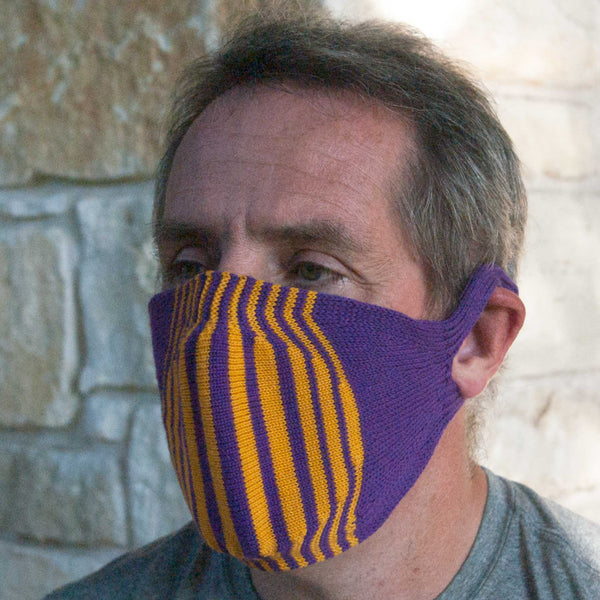 100% Egyptian Cotton Knitted Mask with filter (striped options)