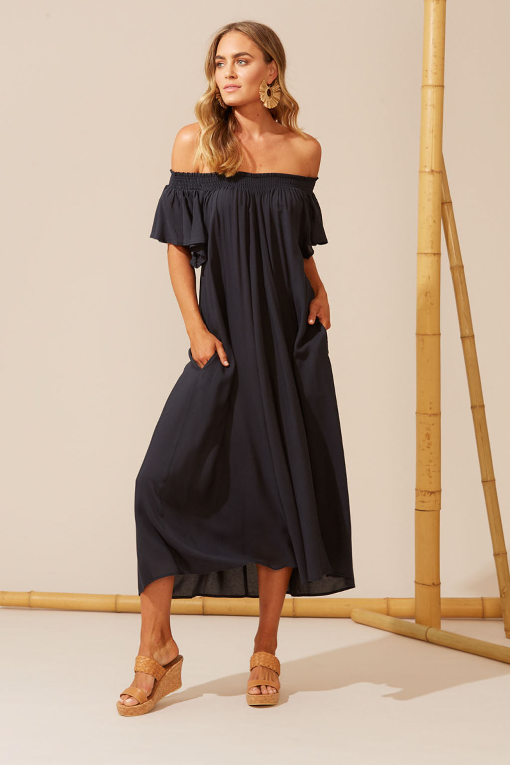 Haven Isola Off Shoulder Dress - One Size