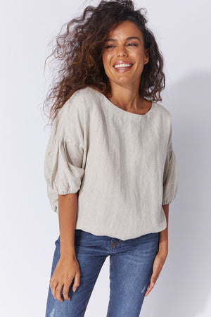 Haven 100% Linen Fontalina Top