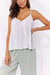 Haven Cuban Pleated Tank White