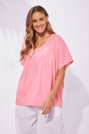 Haven Linen/Rayon Cuban Top Candy