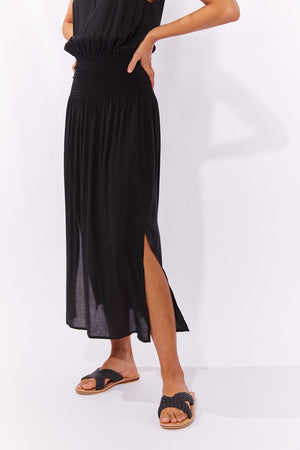 Haven Havana Strap Dress Black