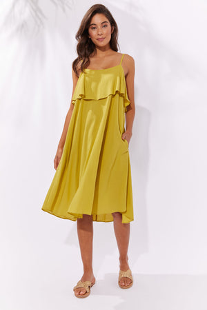 Haven Paradise Dress Lime