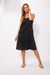 Haven 100% Linen Palma Tank Dress Black