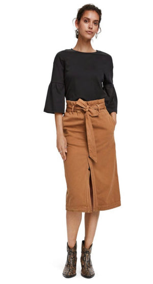 S&S High Waisted Sand Skirt
