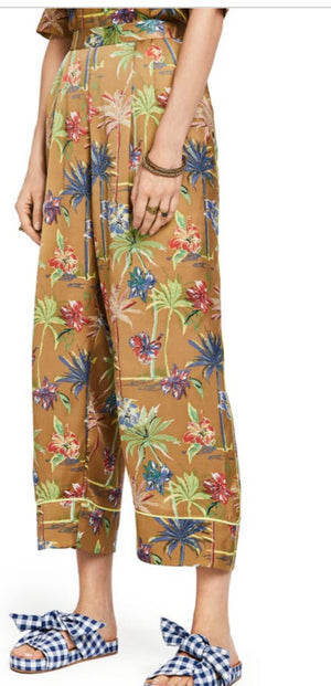 S&S Tropical Print Wide Leg Pants