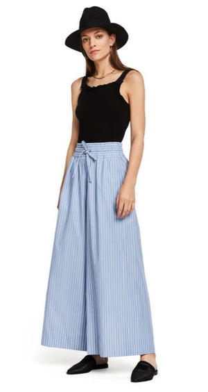 S&S Crispy Cotton Striped Wide Leg Pants