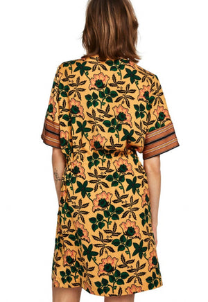 S&S Mixed Print Dress With Tie Waist