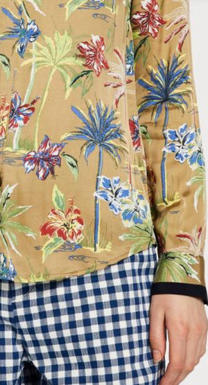 S&S Drapey Shirt - Tropical