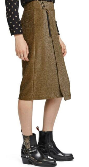 S&S Midi Lurex Skirt With Zip
