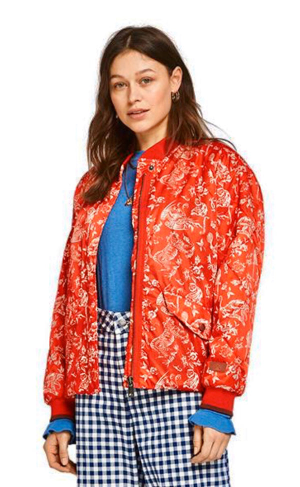 S&S Printed Bomber Jacket