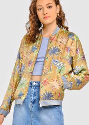 S&S Reversible Bomber Jacket - Palm Trees