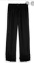 S&S Black Wide Leg Pants With Pleated Ruffle