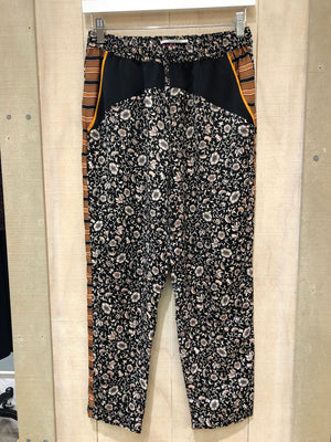S&S Printed Drawstring Pants With Contrast