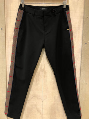 S&S Black Tailored Pants With Contrast
